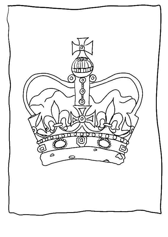 Раскраска Корона Скачать рамка.  Распечатать ,винтажные рамки для текста,