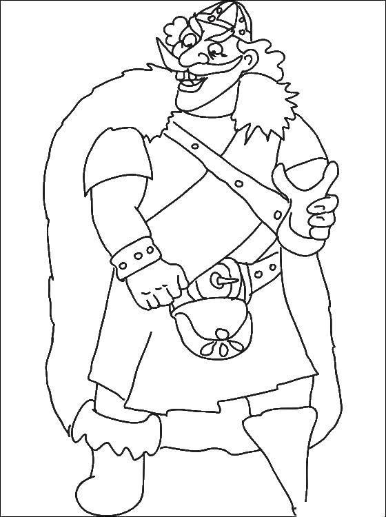 Раскраска Викинг Скачать короли, викинги.  Распечатать ,Король,