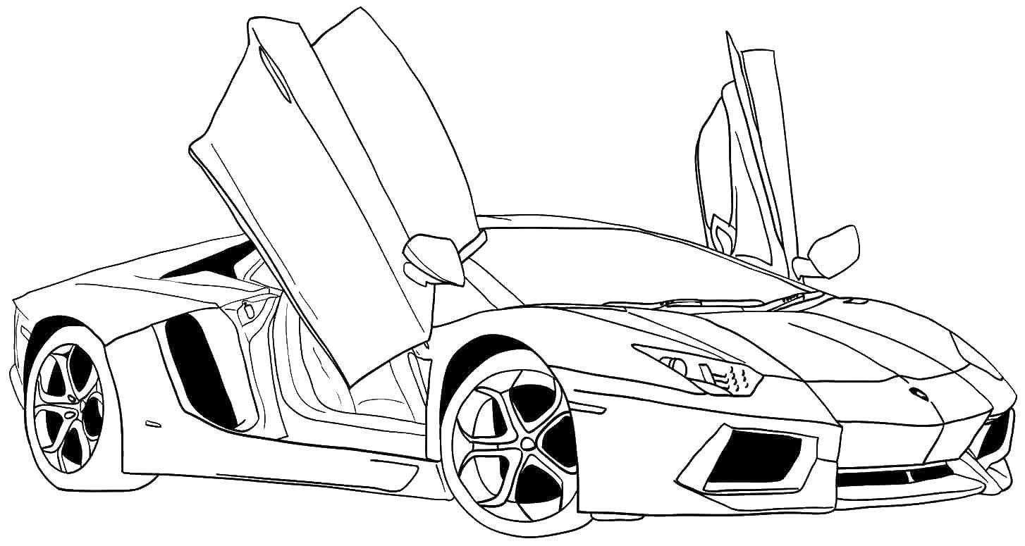 Раскраска машины Скачать ,машины, транспорт, автомобиль,.  Распечатать