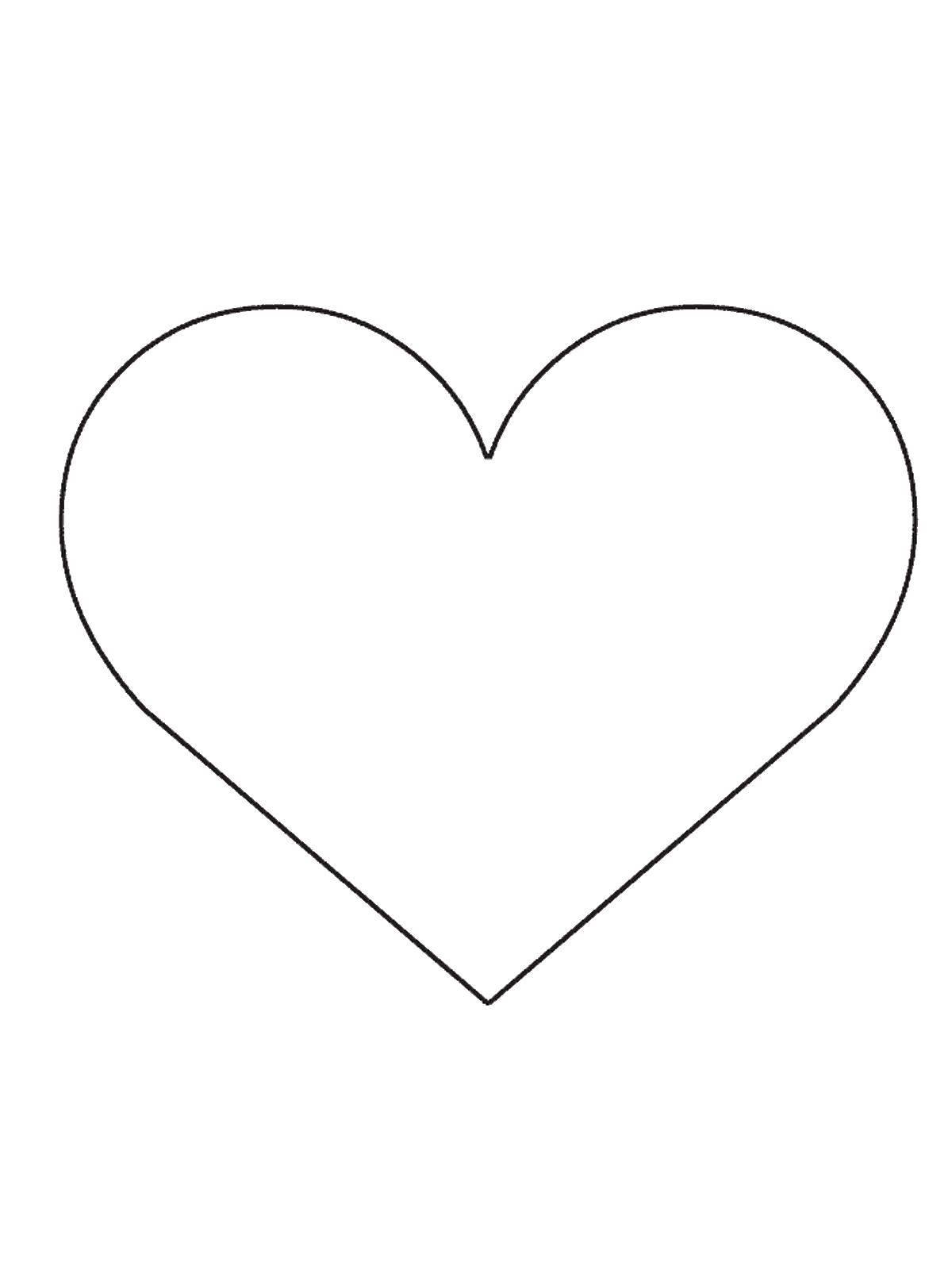 Раскраска раскраски из фигур Скачать ,Сердце,.  Распечатать