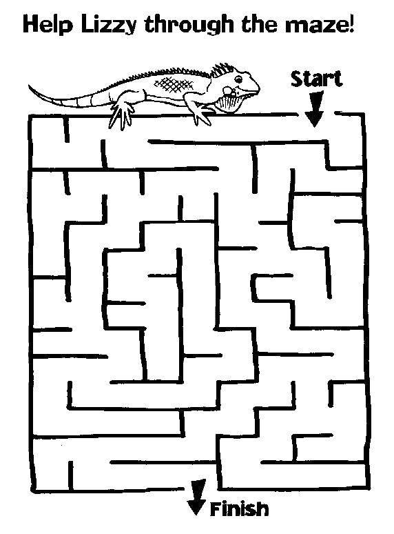 Раскраски ящерица, Страница:2.