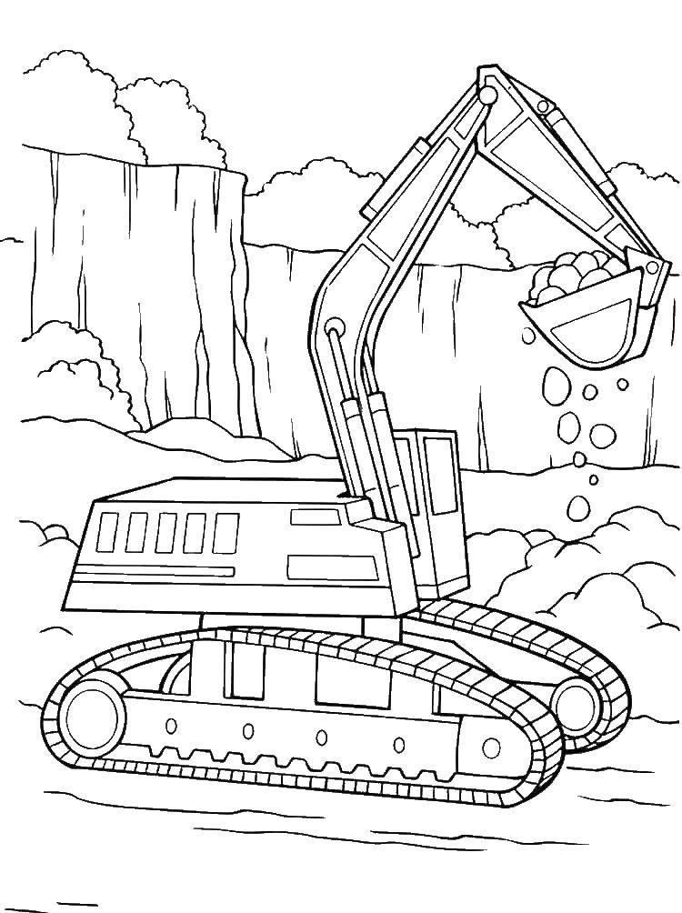 Раскраска трактор Скачать Гигантский, хищник, тиранозавр.  Распечатать ,динозавр,