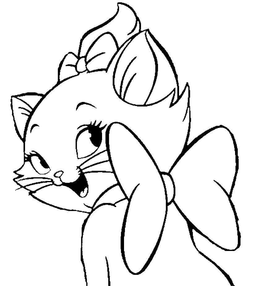 Раскраска Кошечка мари Скачать кошка, Мари.  Распечатать ,мультики,