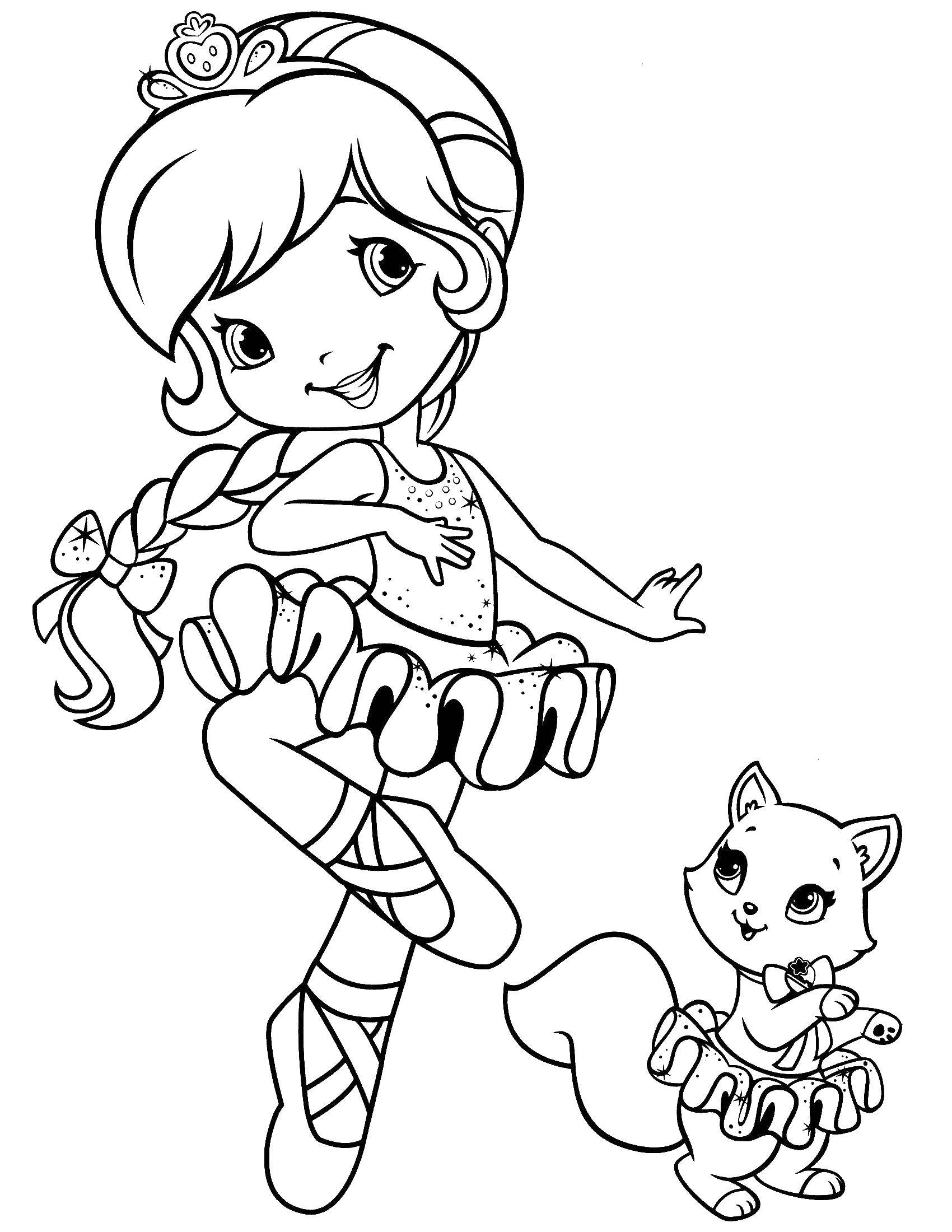 Раскраска Шарлотта земляничка балерина Скачать шарлотта, земляничка, мультики.  Распечатать ,шарлотта земляничка мультики,
