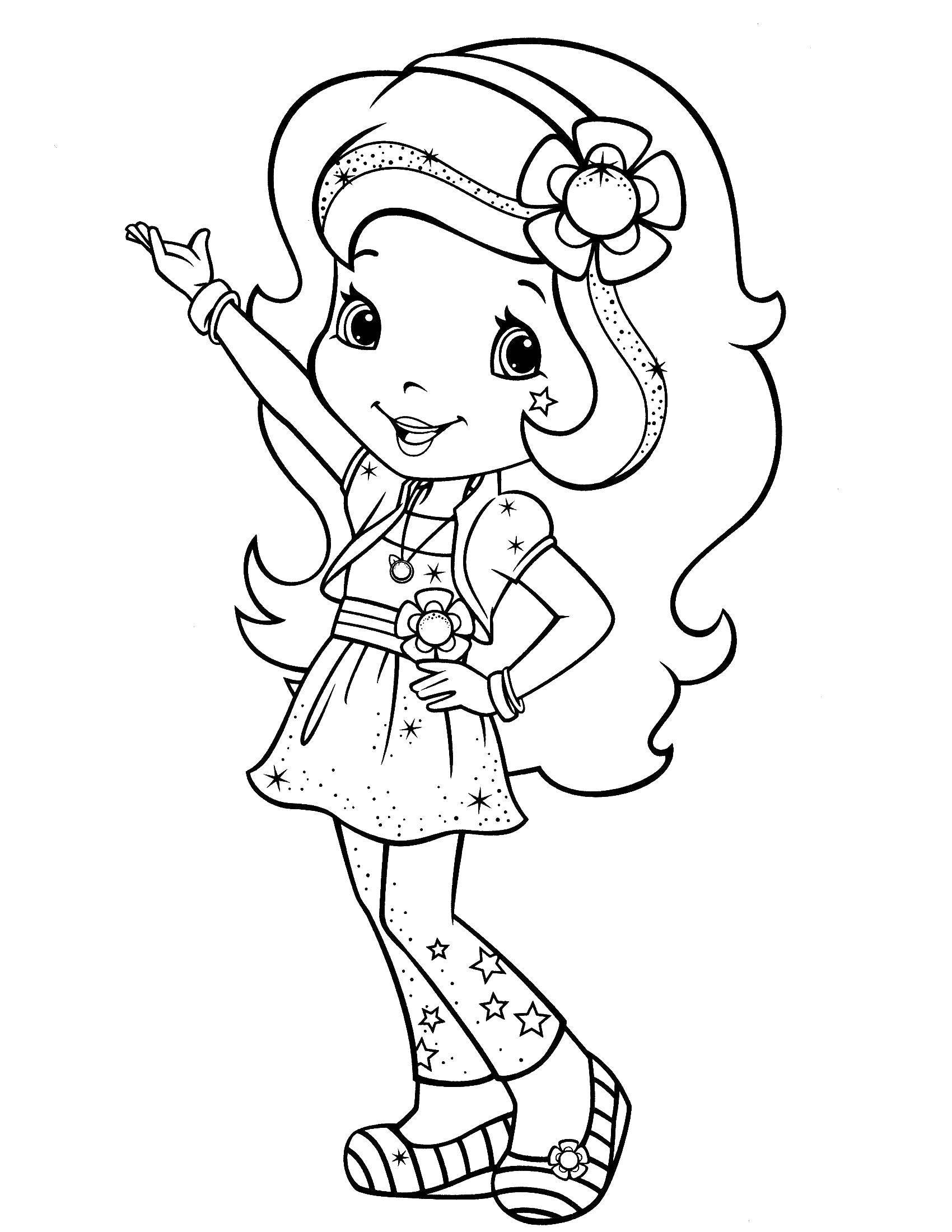 Раскраска Шарлотта земляничка Скачать шарлотта, земляничка, мультики.  Распечатать ,шарлотта земляничка мультики,
