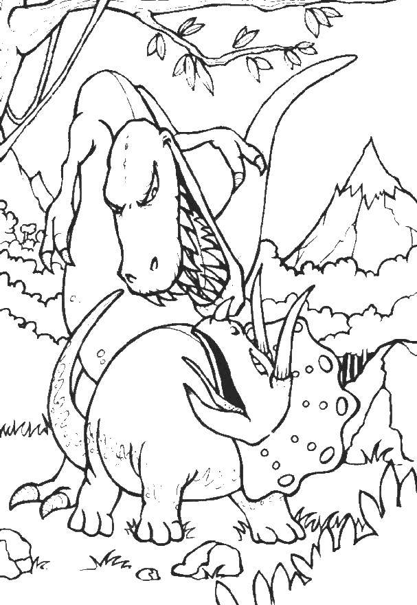 Раскраска динозавр Скачать старуха, ведьма, метла.  Распечатать ,старуха,