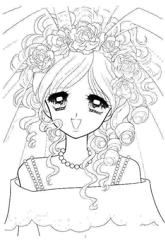 раскраски аниме раскраска аниме невеста аниме