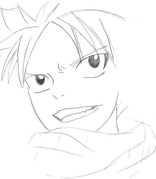 Раскраска Рисуем аниме лицо Скачать аниме, рисуем, тело, лицо.  Распечатать ,аниме хвост феи,