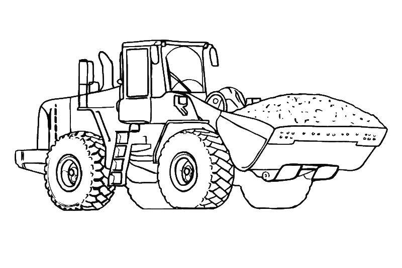 Online Coloring Pages Coloring Page Excavator Construction Machinery