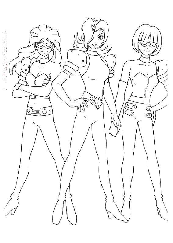 Раскраска Девушки супергерои Скачать девушки, супергерои.  Распечатать ,супергерои,