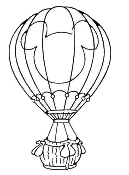Раскраска Воздушный шар Скачать ,воздушный шар,.  Распечатать
