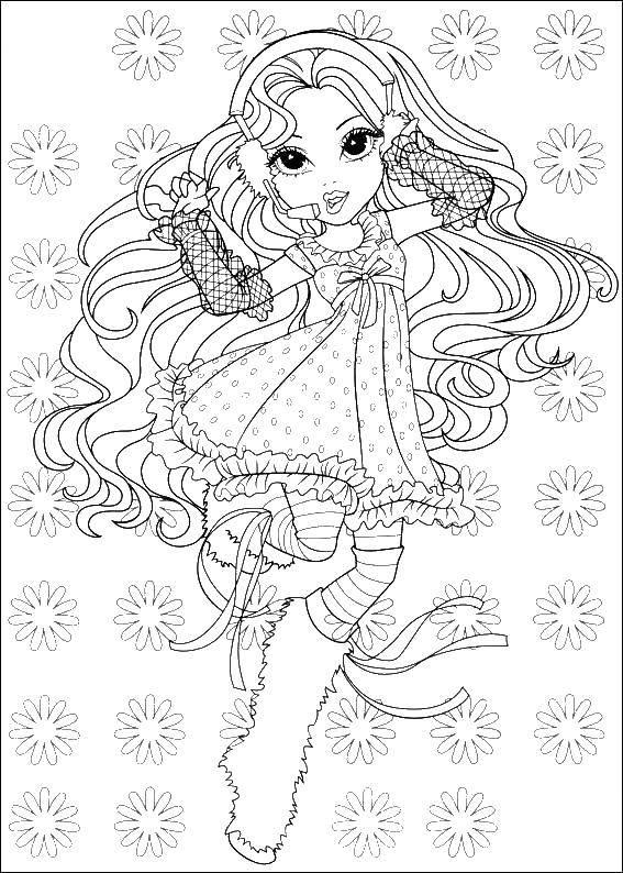 Раскраска Барби поет и танцует Скачать барби, танцы, песни.  Распечатать ,Барби,