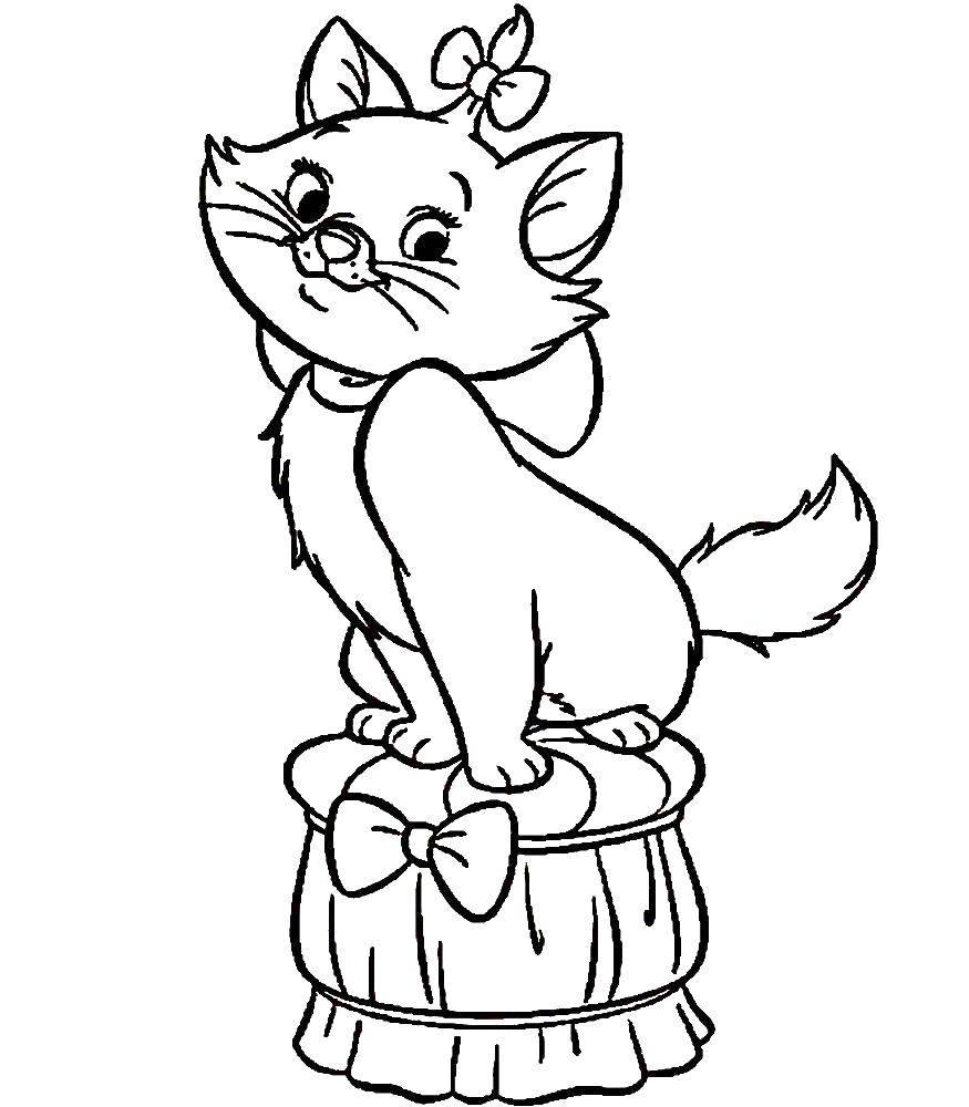 Раскраска Кошечка мари Скачать кошка, Мари.  Распечатать ,коты аристократы,