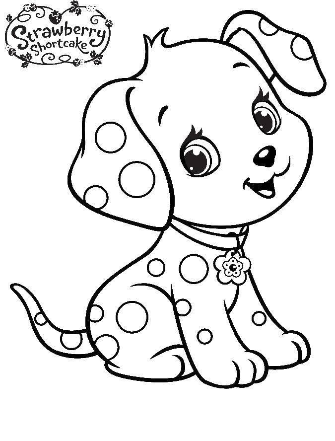 Раскраска Собака земляничка Скачать собака, шарлотта, земляничка, мультики.  Распечатать ,шарлотта земляничка мультики,