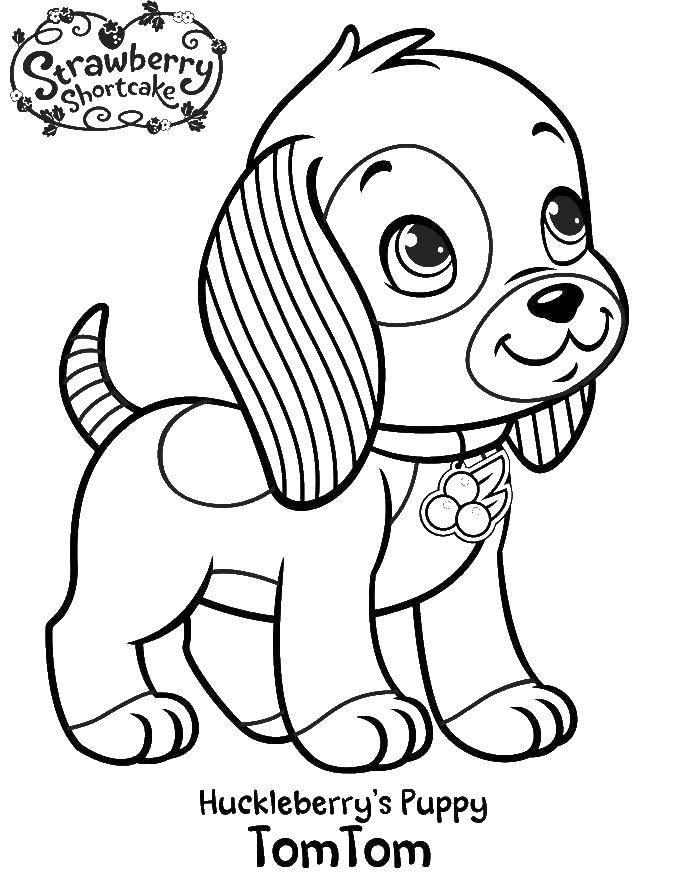 Раскраска Том том Скачать шарлотта, земляничка, мультики, собака.  Распечатать ,шарлотта земляничка мультики,