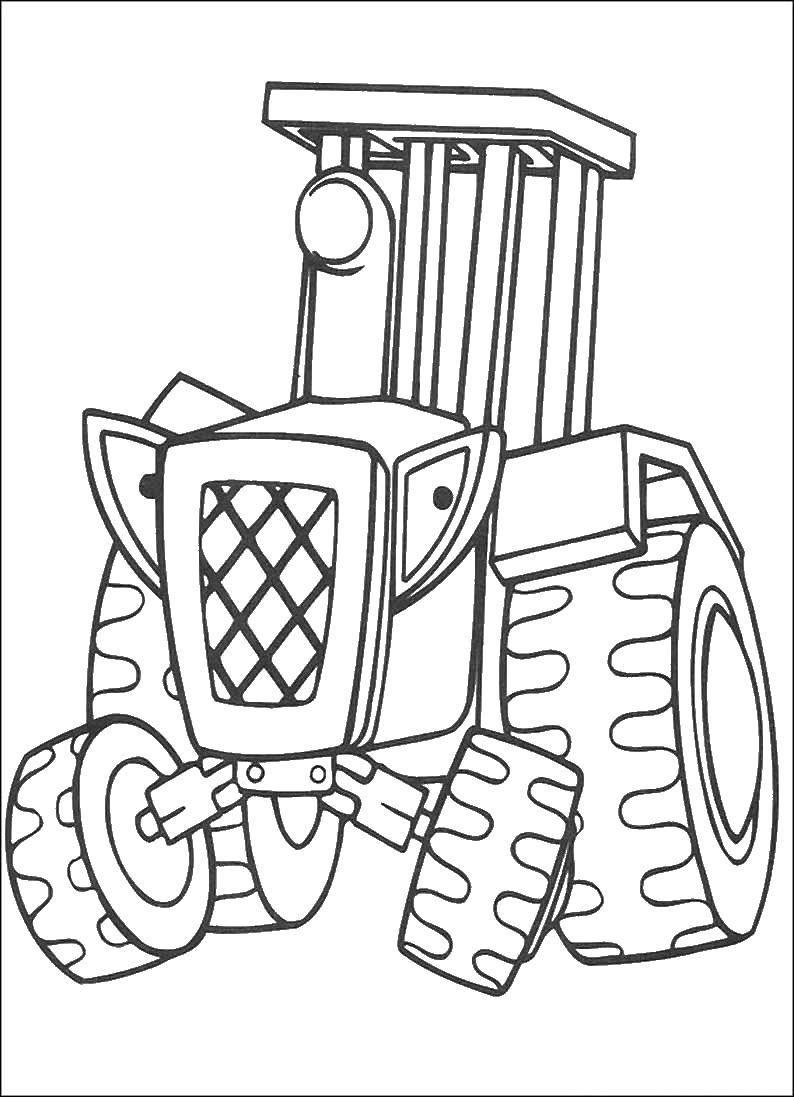 Раскраска Трактор Скачать Трактор.  Распечатать ,машины,