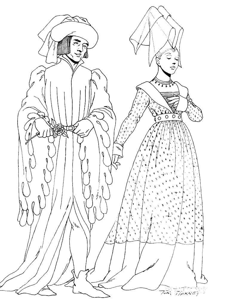 Раскраска мода Скачать ,платья, бал,.  Распечатать