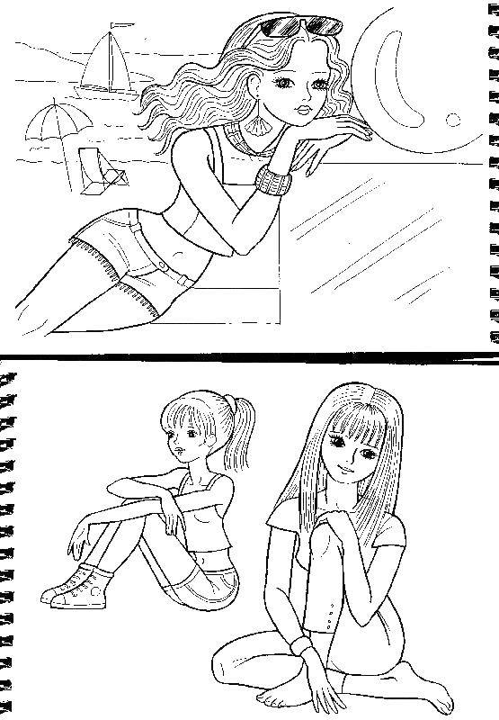 Раскраска Для девочек Скачать ,примеры, математика, кошка, номера,.  Распечатать