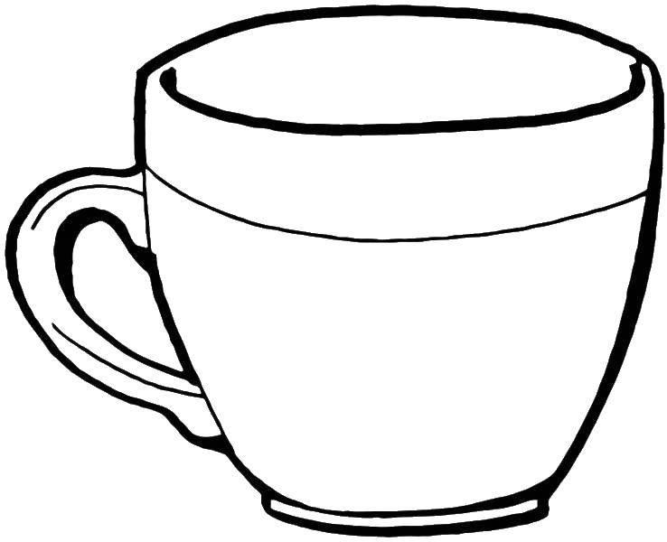 Раскраска Кружка Скачать посуда, чашка, кружка.  Распечатать ,посуда,