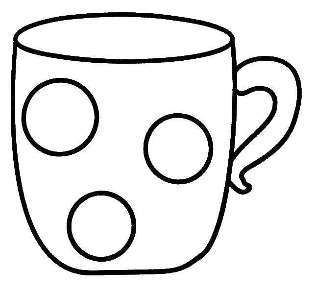 Раскраска чашка Скачать ,кружка, чашка,.  Распечатать