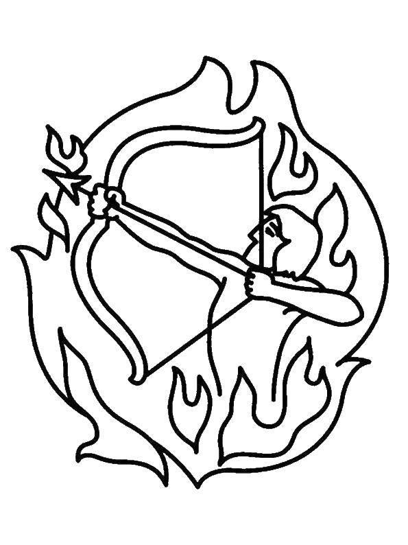 раскраски раскраска стрелец раскраски