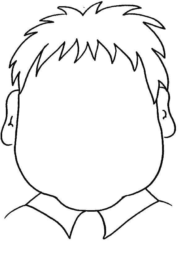 Раскраска Голова человека Скачать голова, прическа.  Распечатать ,прически,