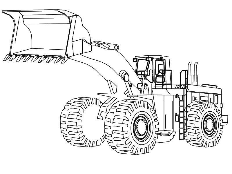 Раскраска Машины строительные Скачать машина, строика.  Распечатать ,машины,