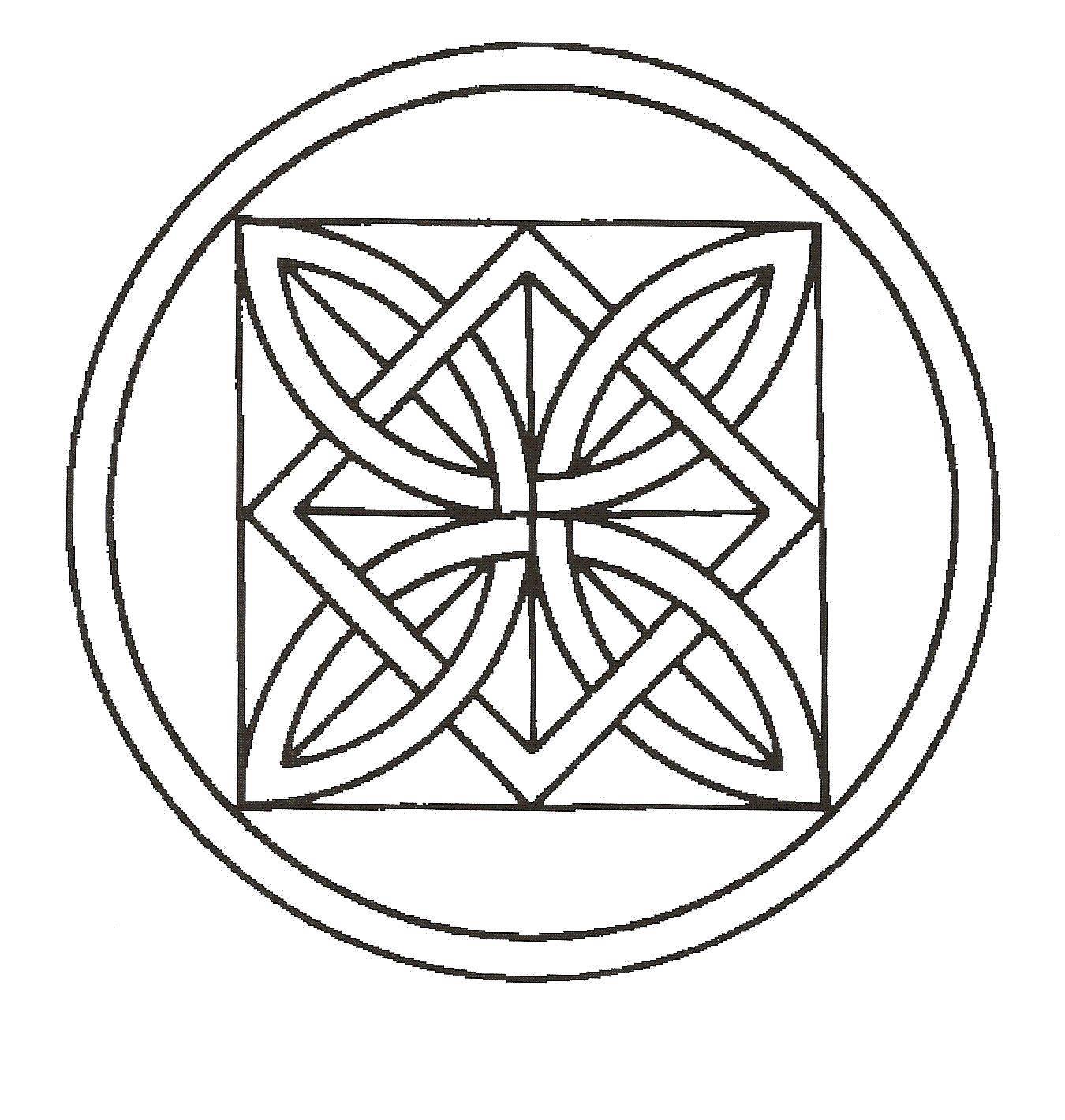 Раскраска тарелка Скачать ,Узоры, геометрические,.  Распечатать