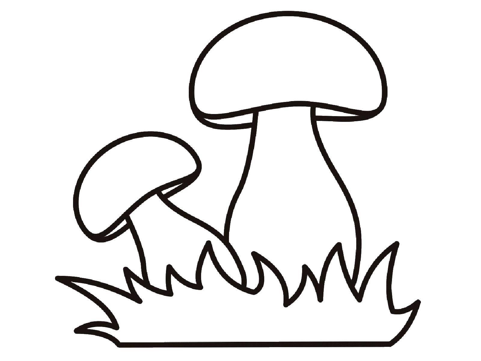 Раскраска грибы Скачать ,грибы,.  Распечатать