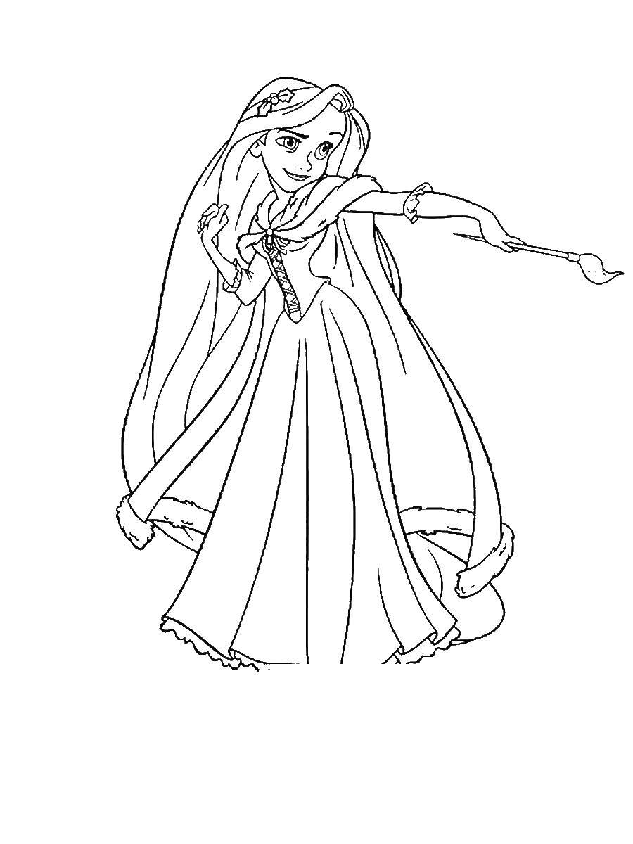 Coloring rapunzel complicated story category coloring pages rapunzel tangled tags rapunzel