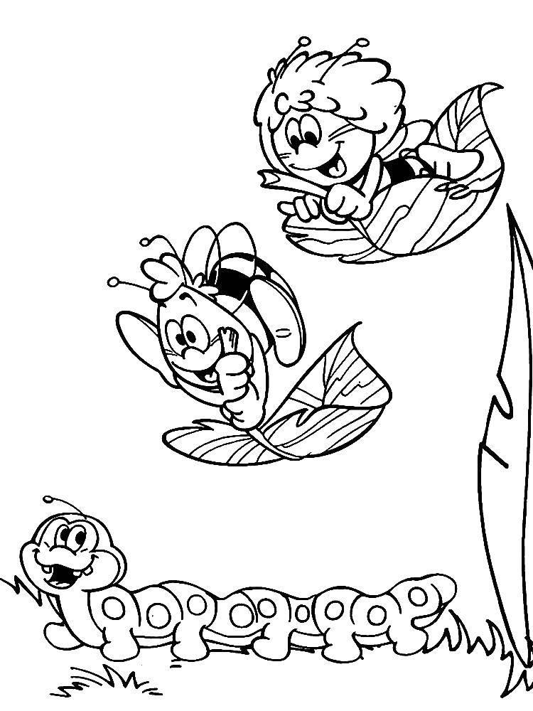 Раскраска пчелка Мая Скачать принцессы, дисней.  Распечатать ,Принцессы,