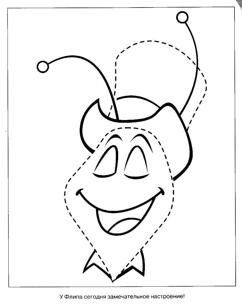 Раскраска пчелка Мая Скачать ,Техника,.  Распечатать