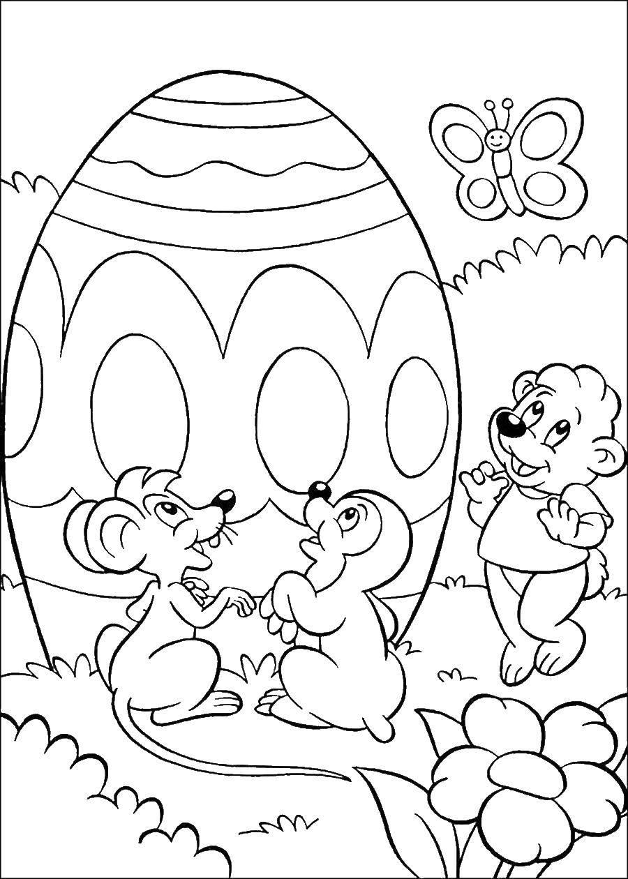 Раскраска христос воскрес Скачать Персонаж из мультфильма, Бен Тен.  Распечатать ,Персонаж из мультфильма,