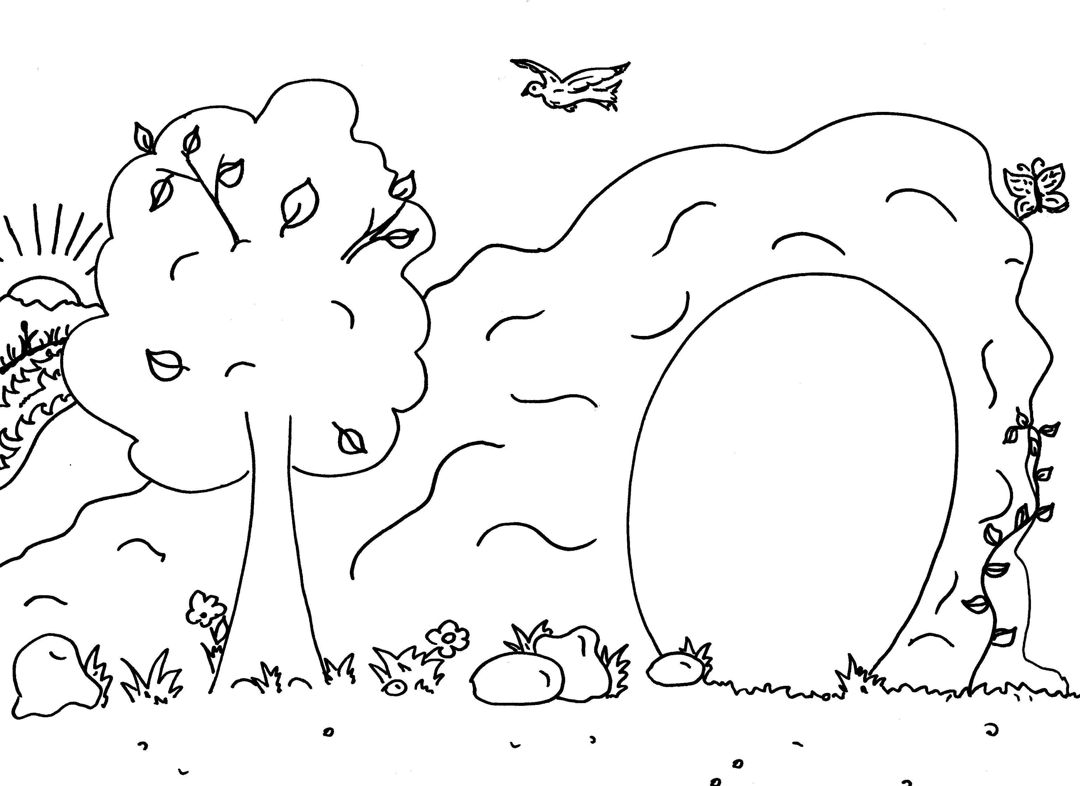 Раскраска дерево Скачать Животные, свинка.  Распечатать ,Контур свиньи для вырезания,
