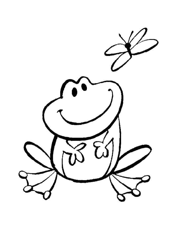 Раскраска лягушка Скачать ,Персонаж из мультфильма,.  Распечатать