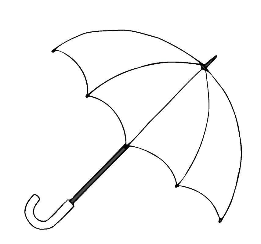 Раскраска зонт Скачать ,зонт,.  Распечатать