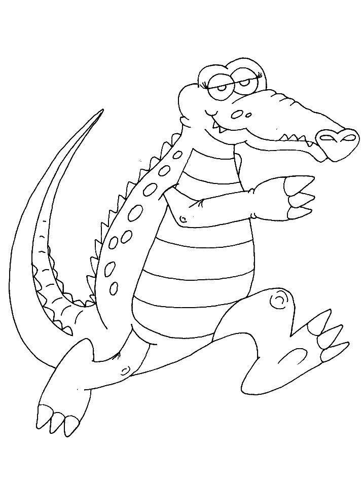 Раскраска Крокодильчик. Скачать животные, крокодильчик, крокодил.  Распечатать ,Животные,