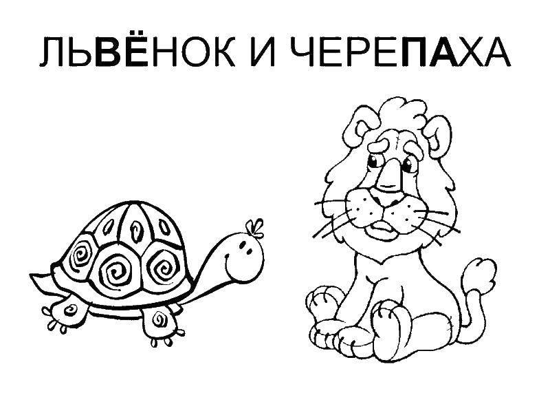 Раскраски львёнок, Страница:5.