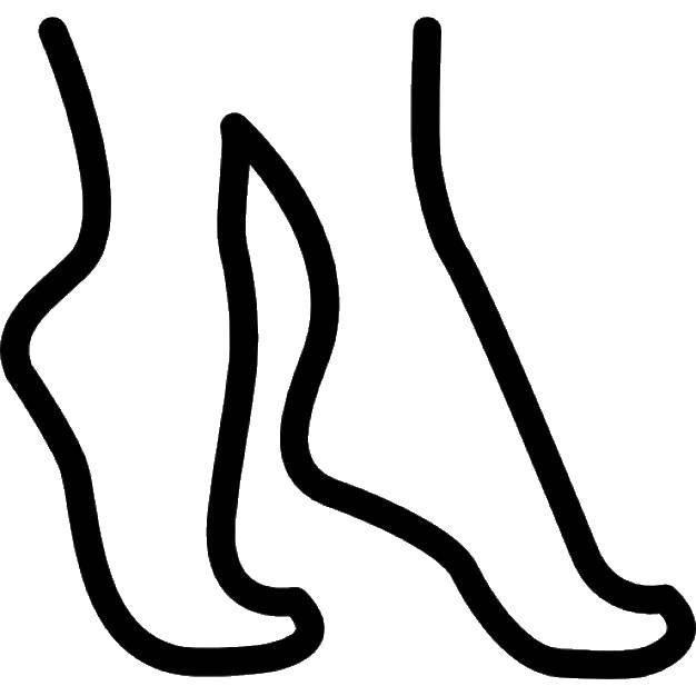 Раскраска Ноги Скачать ноги, человек, следы.  Распечатать ,Следы животных,