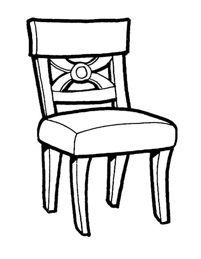 Раскраска Стульчик Скачать Мебель, стол, стул.  Распечатать ,мебель,