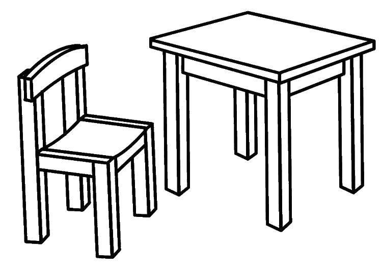 Раскраска Стул Скачать ,Мебель, стол, стул,.  Распечатать