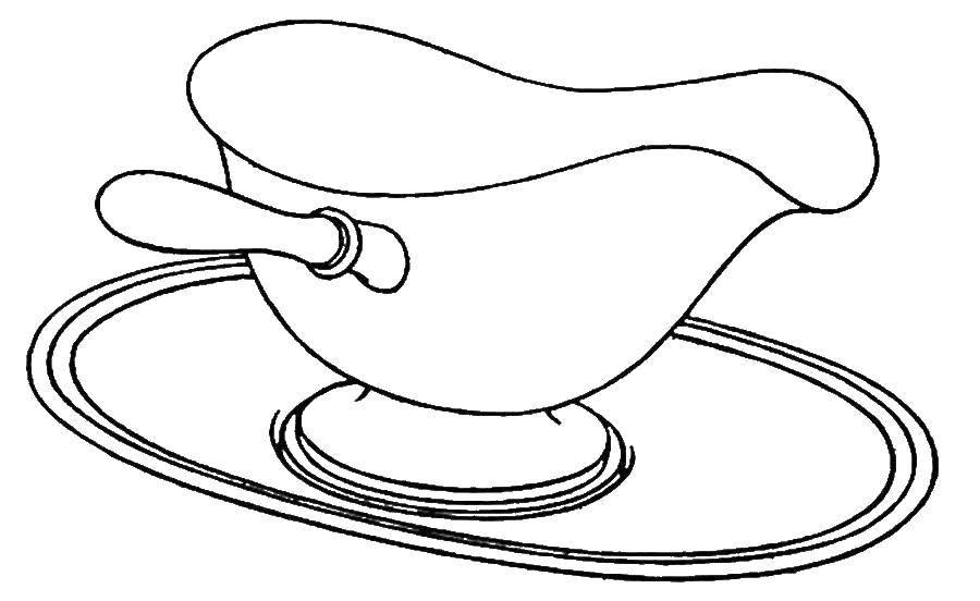 Раскраска посуда Скачать ,кролики, горка, бассейн, купальники,.  Распечатать