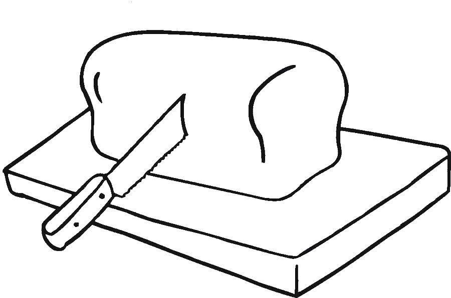 раскраски резка раскраска резка хлеба нож