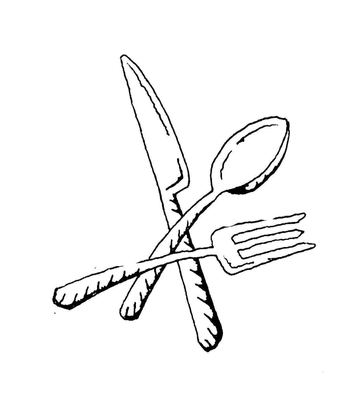 Раскраска ложка Скачать ,Посуда, столовые приборы,.  Распечатать