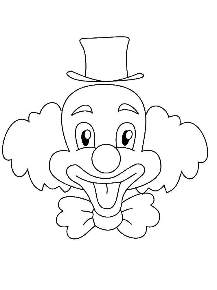 Раскраска Весёлый клоун Скачать Клоун, цирк, радость, веселье.  Распечатать ,Клоуны,
