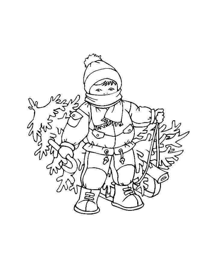 Раскраска зима Скачать ,Мебель,.  Распечатать