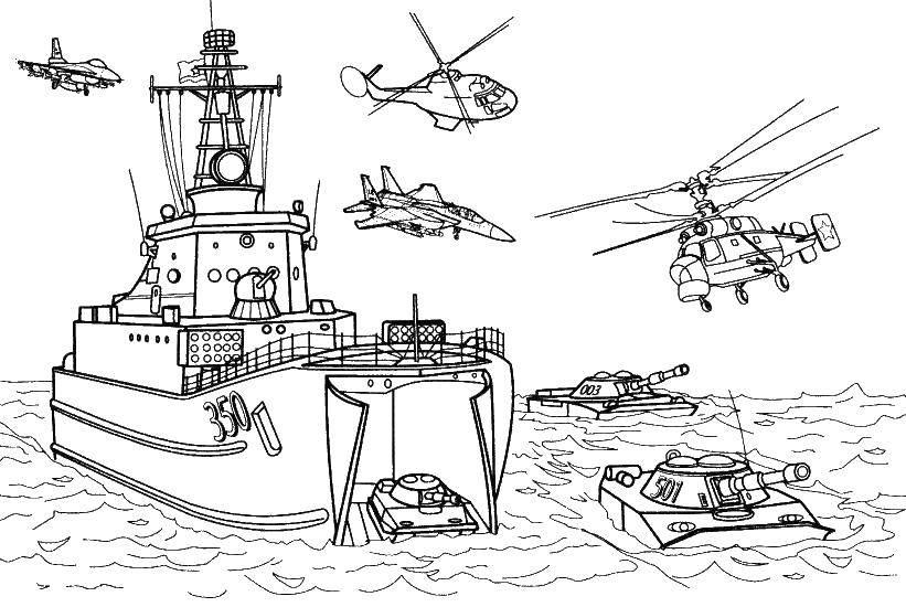 Раскраска Военная техника Скачать ,военная техника. война, спецтехника,.  Распечатать