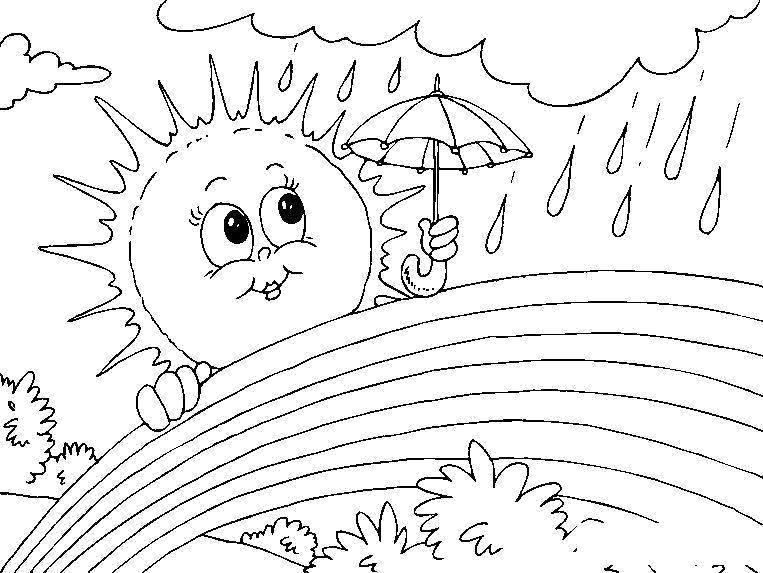 Раскраска Солнце Скачать собака.  Распечатать ,животные,