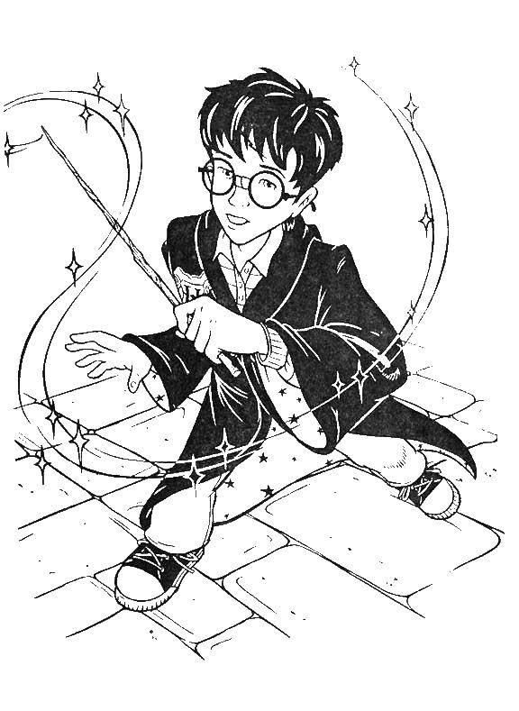 Раскраска Гарри Поттер Скачать ,учитель,сплинтер, черепашки ниндзя,.  Распечатать