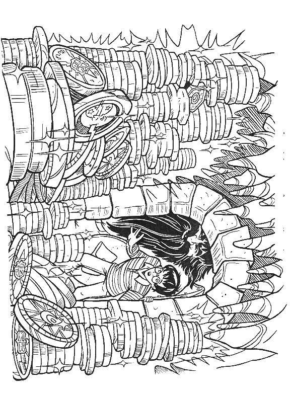 раскраски раскраска гарри поттер в подземелье гарри поттер